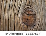 grainy old wood with knot... | Shutterstock . vector #98827634