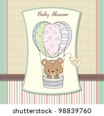 Delicate Baby Shower Card With...