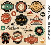 collection of vintage retro... | Shutterstock .eps vector #98845100