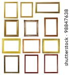 12 picture frame on white... | Shutterstock . vector #98847638