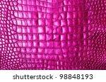 Vintage Pink Crocodile Skin...