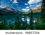 scenic view of the emerald lake ... | Shutterstock . vector #98857256