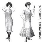 Elegant Woman Old Fashion...