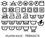 set of washing symbols  laundry ... | Shutterstock .eps vector #98866676