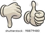 hands are making thumbs up and... | Shutterstock .eps vector #98879480