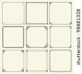 decorative frames  set 11  | Shutterstock .eps vector #98881328