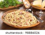 Spaghetti Alla Carbonara Served ...