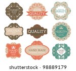 vintage label style with nine...   Shutterstock .eps vector #98889179