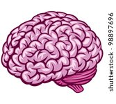 comics draw of human brain.... | Shutterstock . vector #98897696