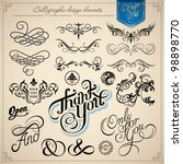 calligraphic design elements  ... | Shutterstock .eps vector #98898770