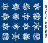 set of snowflakes symbols on... | Shutterstock . vector #98898950