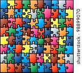 jigsaw puzzle colorful pattern. ... | Shutterstock . vector #98899070