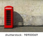 Classic Red Telephone Booth At...