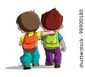illustration of kids going to... | Shutterstock .eps vector #98900180