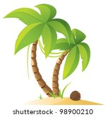 palm trees | Shutterstock .eps vector #98900210