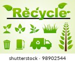 vector set of environmental  ... | Shutterstock .eps vector #98902544