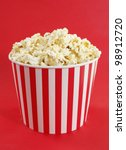 popcorn in red and white... | Shutterstock . vector #98912720
