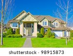 a modern custom built luxury... | Shutterstock . vector #98915873