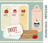 Vintage Dessert Menu   Set Of...
