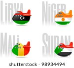 travel cartoon icons  planes ... | Shutterstock .eps vector #98934494