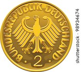 Vector Germany Money Gold Coin...
