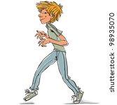 Cunning Teen Boy  Vector...