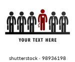 unique concept. loving man in... | Shutterstock .eps vector #98936198