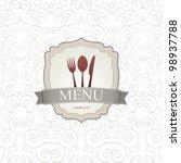 restaurant menu design | Shutterstock .eps vector #98937788