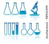 set of laboratory equipment | Shutterstock .eps vector #98942399