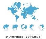 world map | Shutterstock .eps vector #98943536