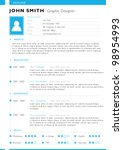 resume template. vector | Shutterstock .eps vector #98954993