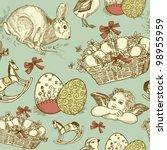 Vintage Easter Seamless...