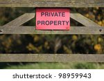 Private Property Notice On A...