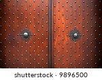 Old Wooden Closed Textured Door