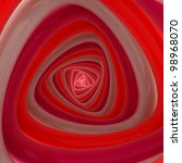 Triangular vortex of red and pink colors - stock photo