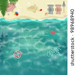 summer beach background  ... | Shutterstock .eps vector #98968940