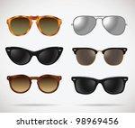 sunglasses vintage set  cats... | Shutterstock .eps vector #98969456