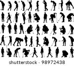 Golf Vectors   Silhouettes