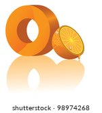 letter o and orange alphabet... | Shutterstock .eps vector #98974268