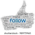 follow as social media concept...   Shutterstock . vector #98975960