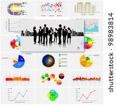 infographic vector graphs and... | Shutterstock .eps vector #98983814