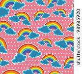 seamless rainbow background... | Shutterstock .eps vector #98985920