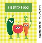 healthy food card. vector... | Shutterstock .eps vector #98993594