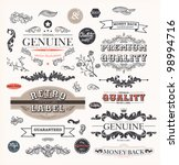vector set  calligraphic design ... | Shutterstock .eps vector #98994716