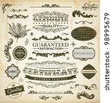 vector set of calligraphic... | Shutterstock .eps vector #98995679
