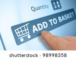 online shopping   finger...   Shutterstock . vector #98998358
