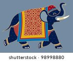 indian decorated elephant...