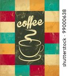 retro vintage coffee background ... | Shutterstock .eps vector #99000638