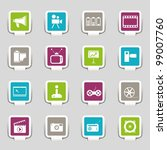 16 web icons media   Shutterstock .eps vector #99007760