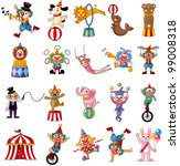 cartoon happy circus show icons ... | Shutterstock .eps vector #99008318